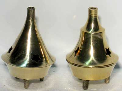 Brass Cone Incense Burners