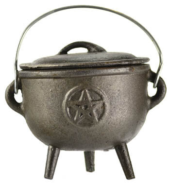 Pentacle Iron Cauldron 4""