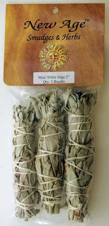 White Sage Smudge Sticks 3pcs