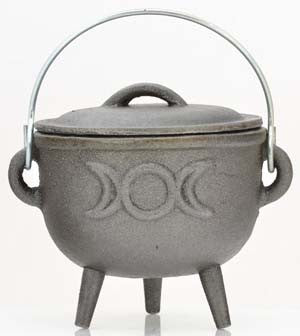 Triple Goddess Iron Cauldron