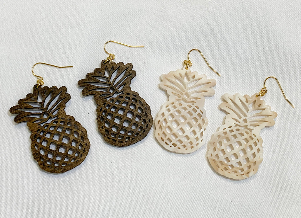 Pineapple Earrings (91 color choices)