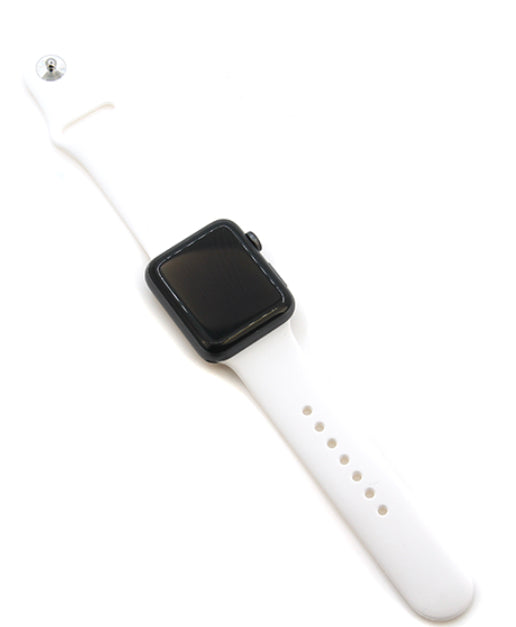 White Silicone Watch Band 38-40mm (can be personalized with engraving)