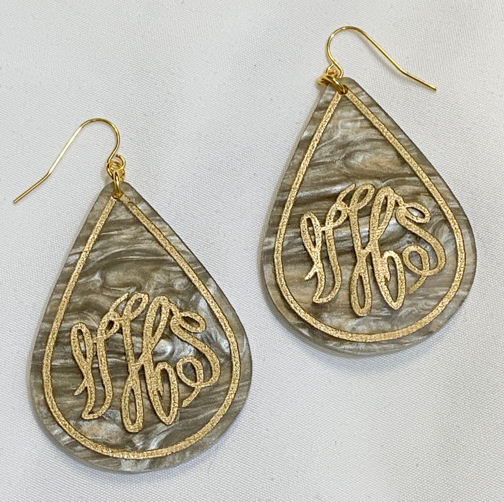 Teardrop Personalized Earrings