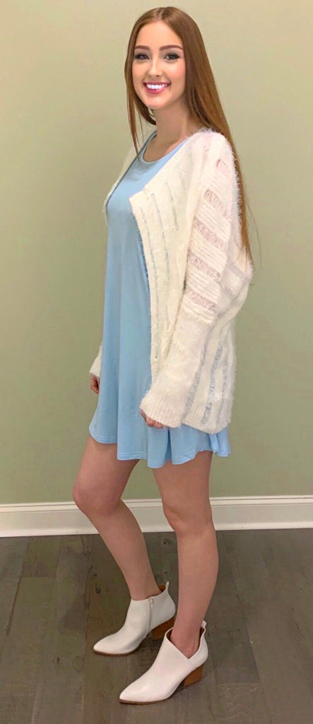 French Blue Piko Dress (S-L)