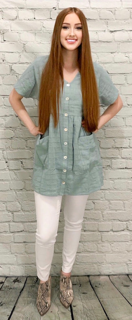 Button Me Up Tunic (S-2XL)