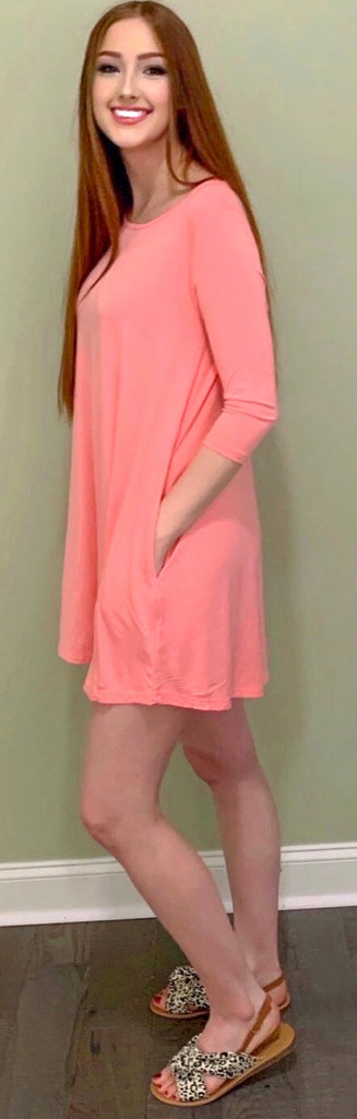 So Peachy Piko Dress (S-L)