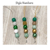 St. Patrick's Day Beaded Lanyards
