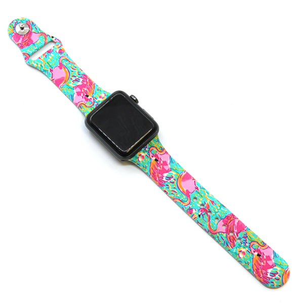 Flamingo Silicone Watch Band 38-40mm (can be personalized with engraving)