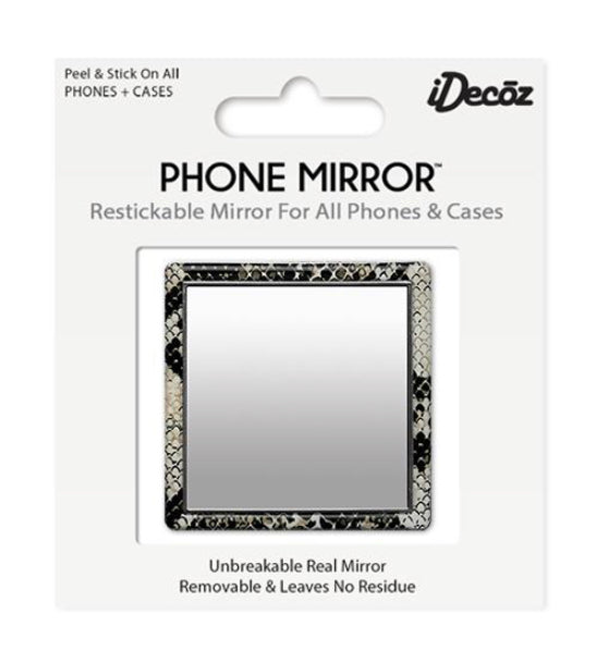 Embossed Python Phone Mirror