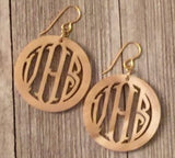 Circle Personalized Earrings (91 color choices)