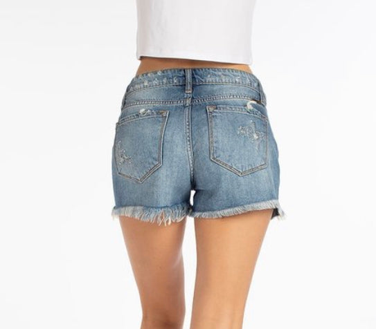 Distressed Kan Kan Jean Shorts (0-13)