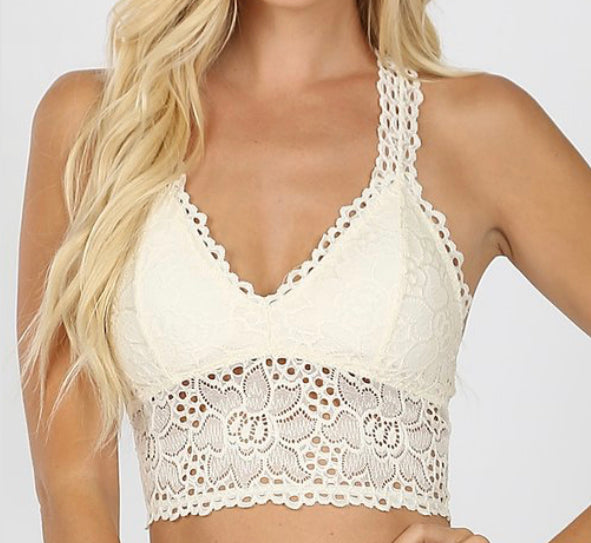 Ivory Bralette (Plus 1XL-3XL)