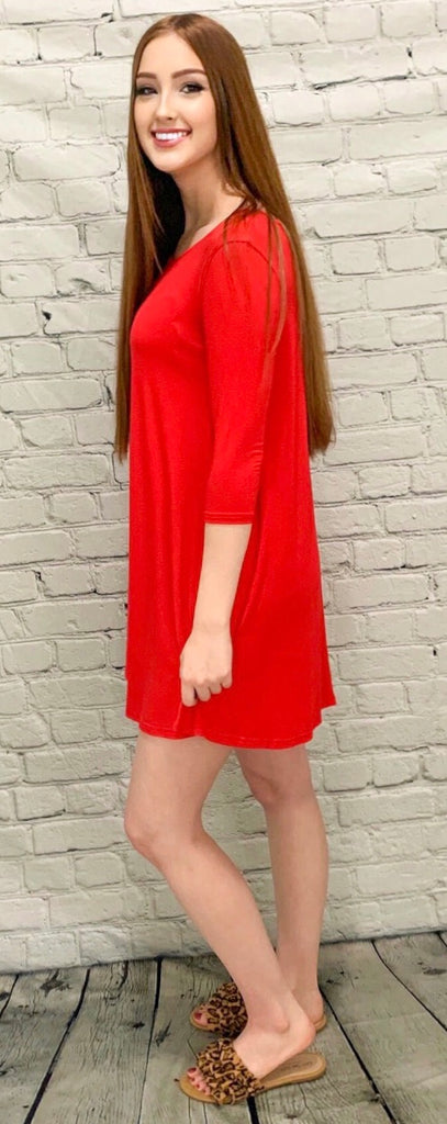 Red Hot Piko Dress (S-L)