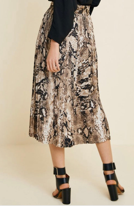 Button Down Snakeskin Skirt (S-3XL)