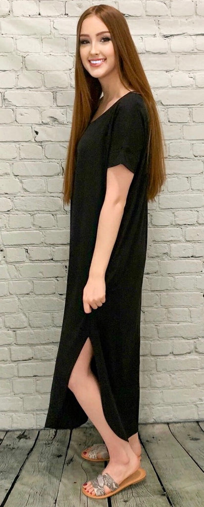 Calm & Collected Black Maxi (S-3XL)