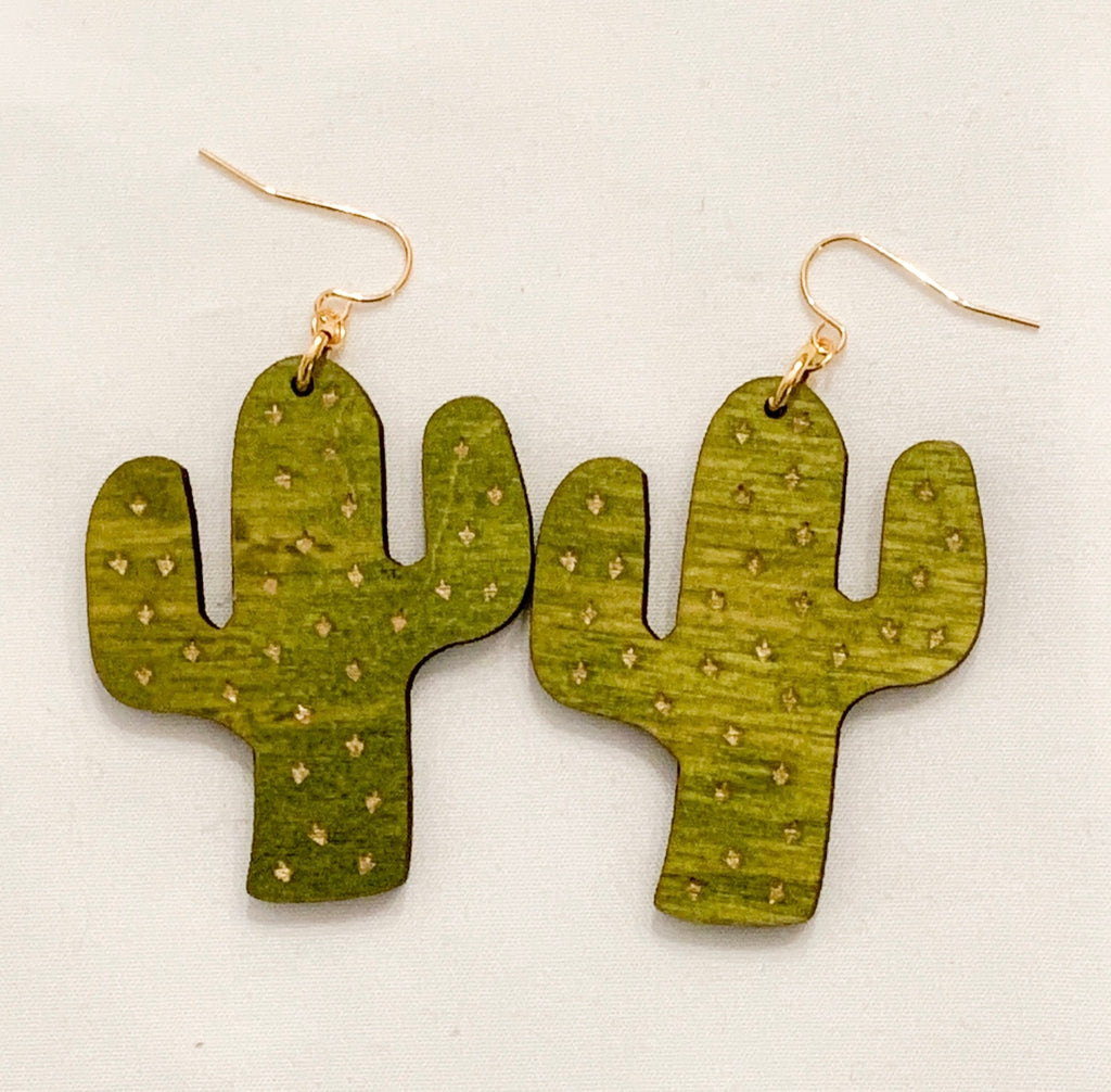 Cactus Earrings (91 color choices)
