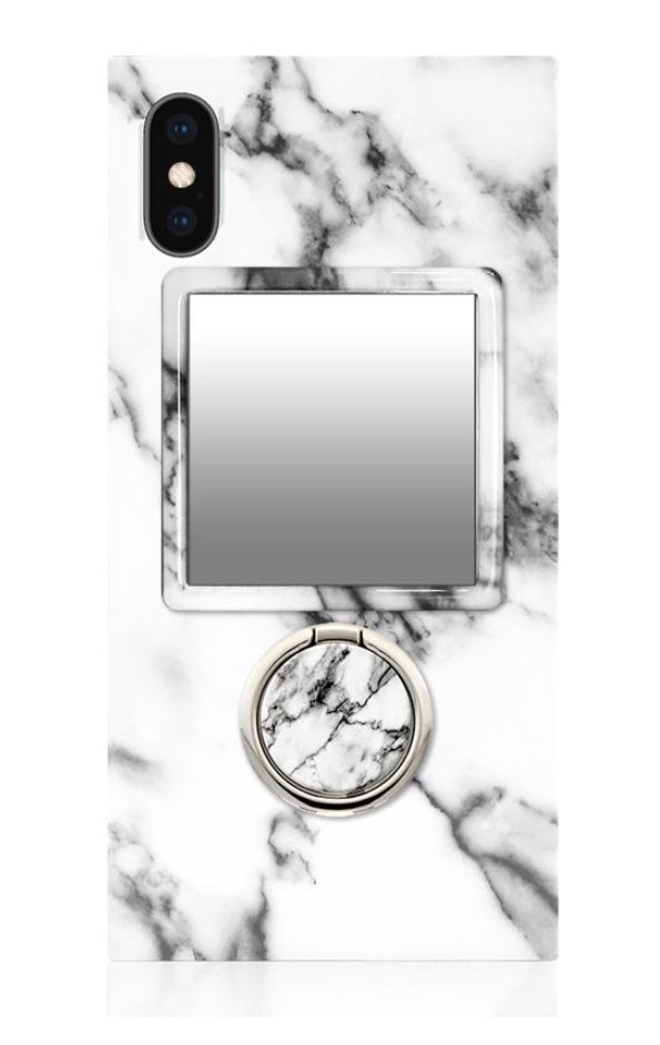 White Marble Phone Mirror