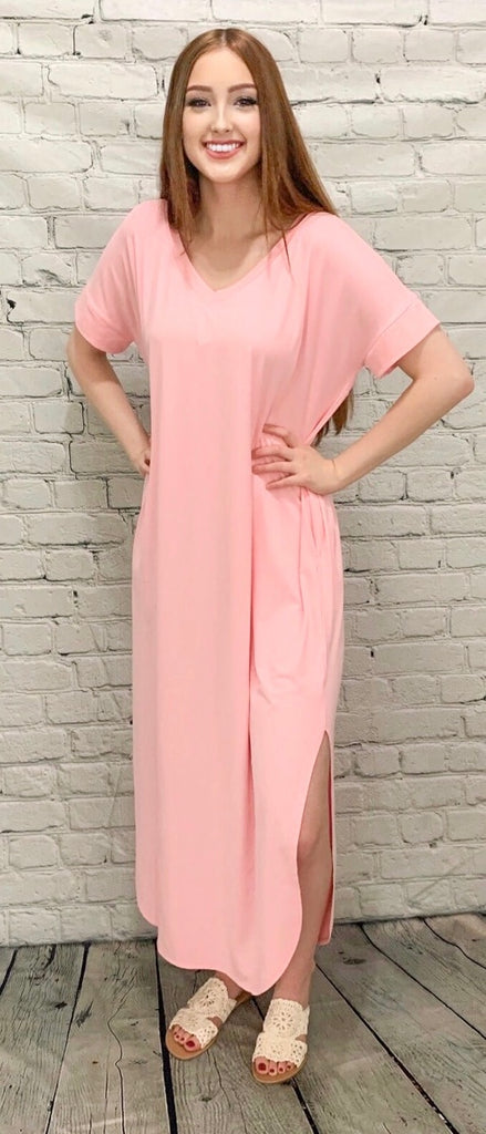 Calm & Collected Dusty Pink Maxi (S-3X)