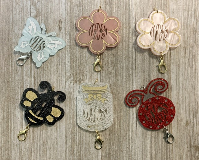 Spring Time Personalized Lanyard Pendants