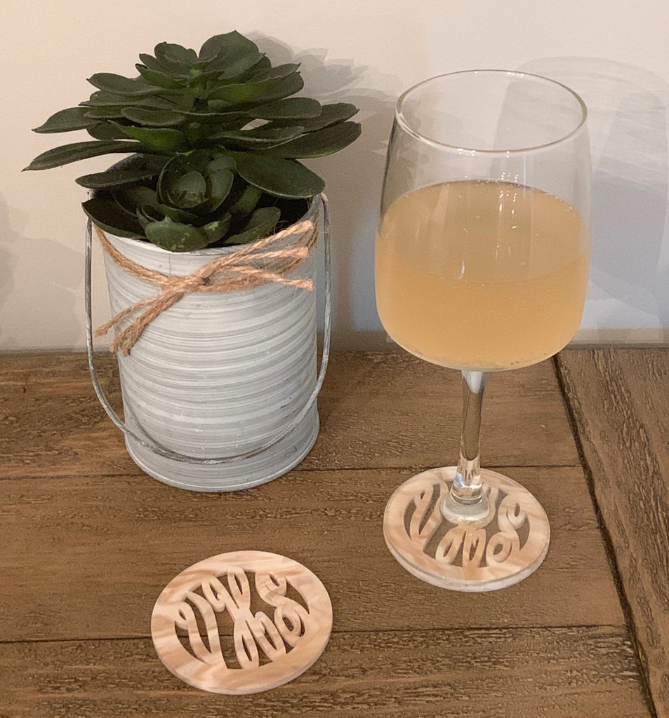 Car & Home Coasters Scalloped Circle Shaped (more colors available)
