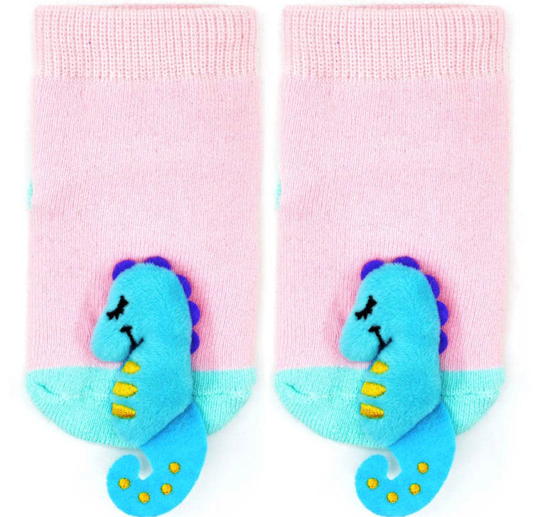 Seahorse Rattle Sock (Boogie Toes)