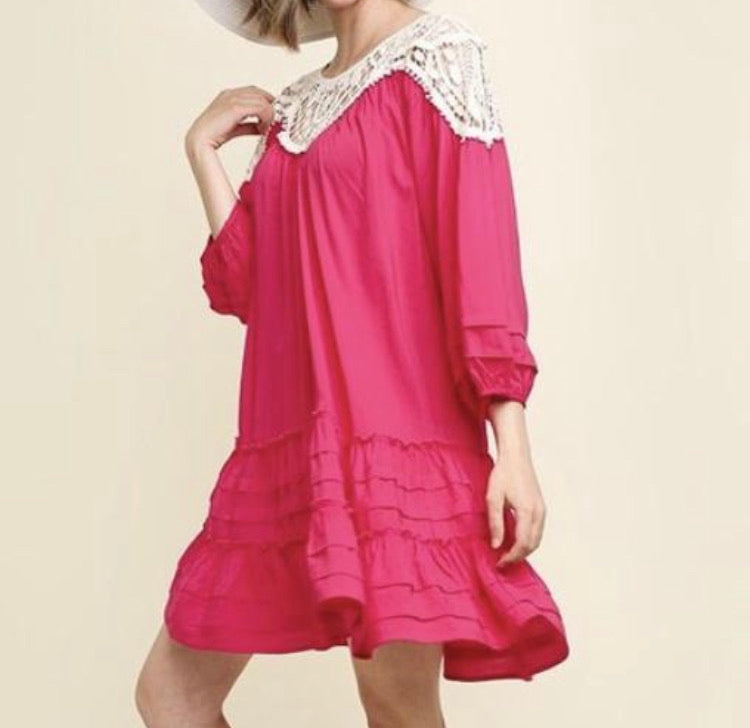 Fun in the Sun Fuchsia Dress