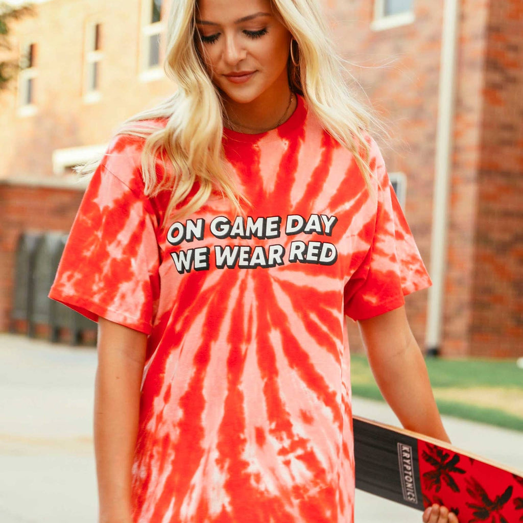 Charlie Southern-On Gameday We Wear Red Tee