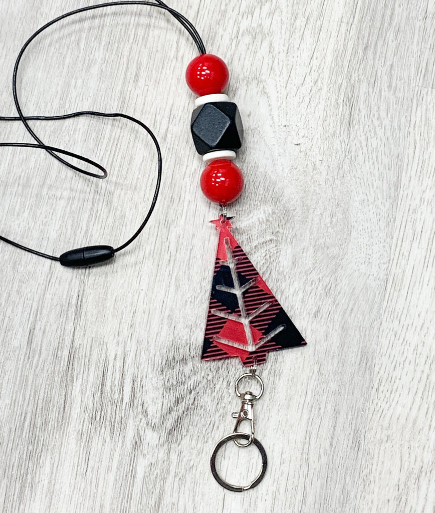 Buffalo Plaid Christmas Lanyard