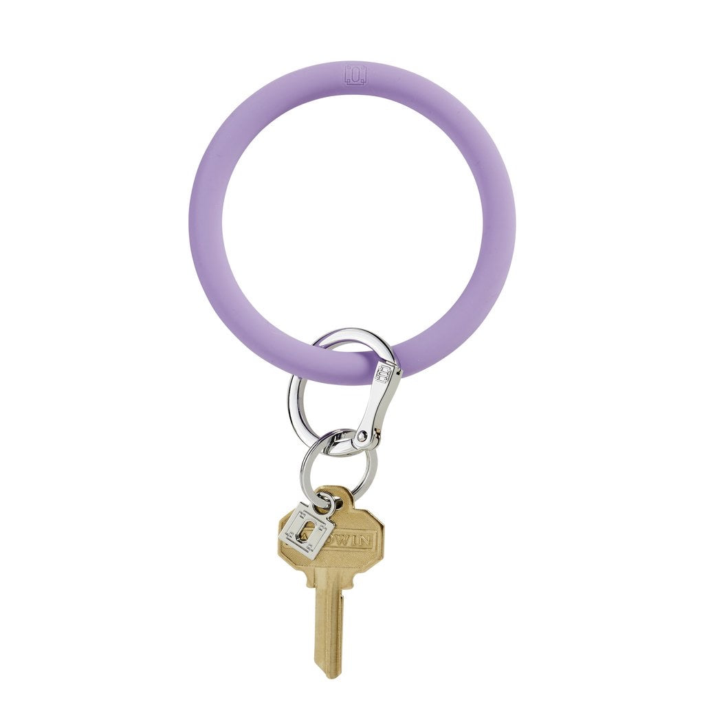 Silicone Big O® Key Ring - Back in Black