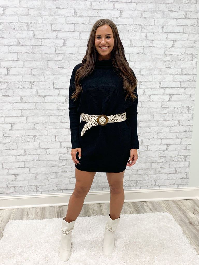 Black Sweater Dress (S-L)