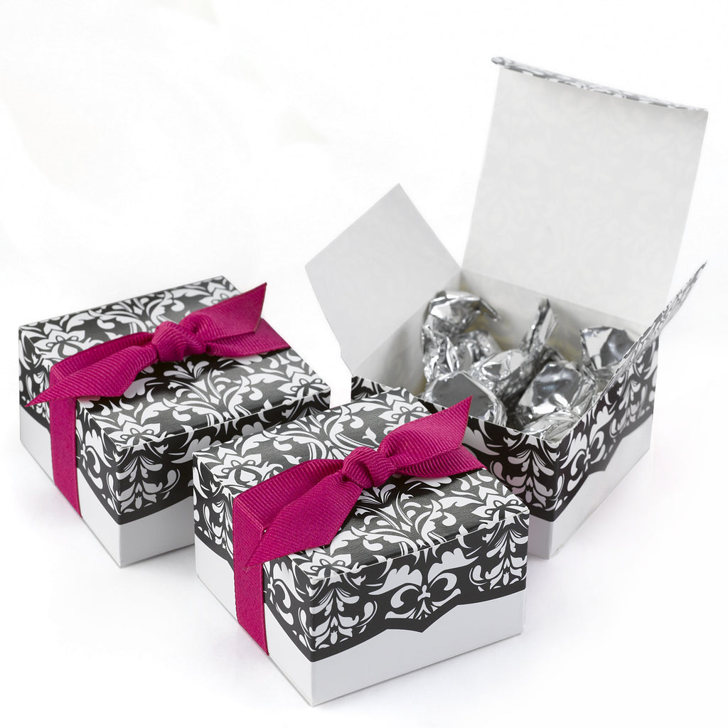 Damask Floral Dynamic Design - Favor Boxes Set of 25 – The Lovely ...