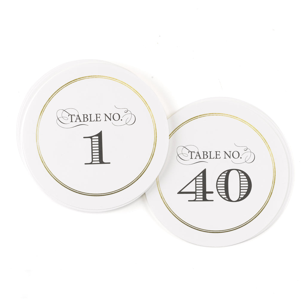 Golden Elegance - Table Number Cards 1-40