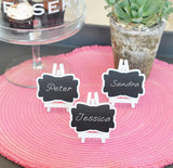 Mini White Frame Vintage Chalkboard Table Place card signs - (Set of 20)