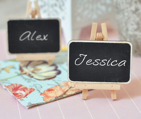 Mini wooden easels Chalkboard signs (Set of 12)