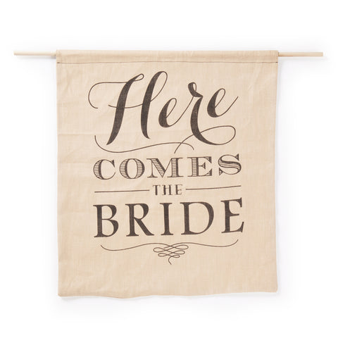 Rustic Here Comes the Bride - Wedding Ceremony Sign