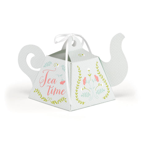 Tea Time Tea Party Favor Boxes - Set of 12