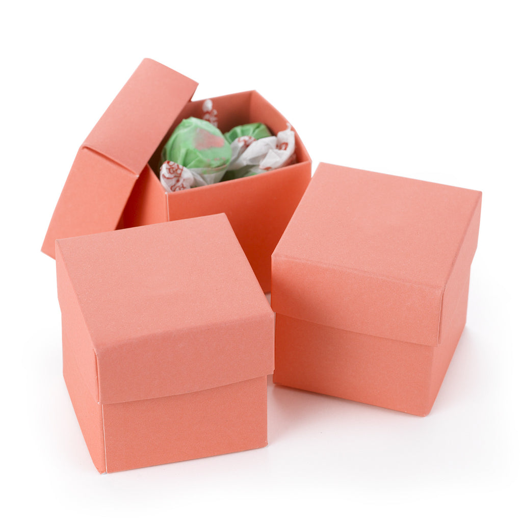 Two-piece Favor Box - Blank - Coral boxes - Set of 25