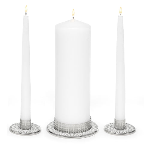Vintage Pearl - Wedding Candle Stand Set