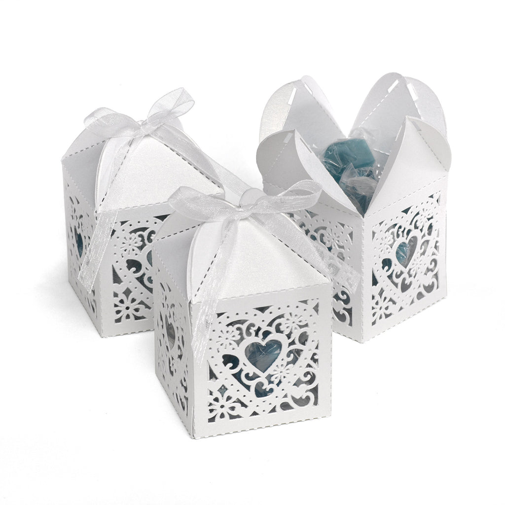 White or Ivory Decorative Wedding Mini Favor Boxes (Pkg of 25) – The ...