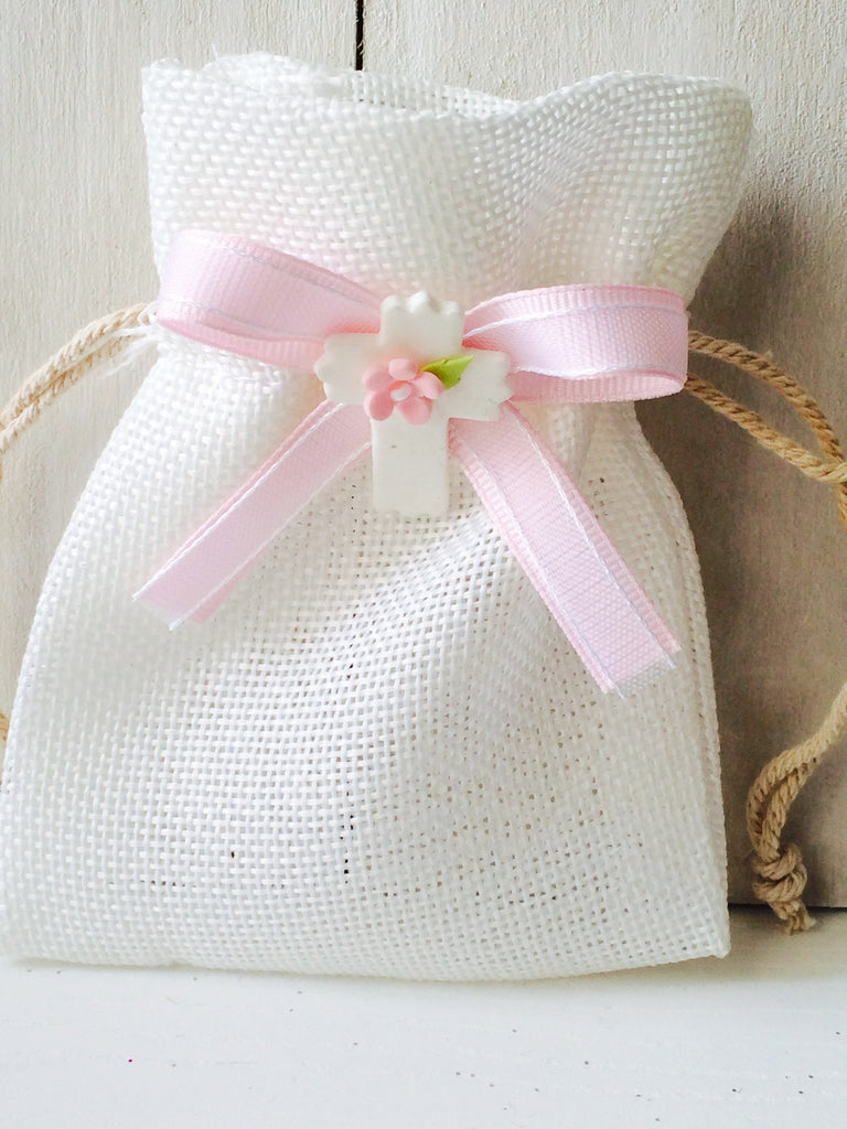 Elegant Girls Baptism, Christening, First Communion Elegant Burlap ...