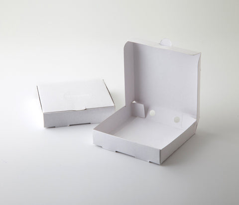 "MINI White Party Pizza Boxes 3.5"" -Set of 20"