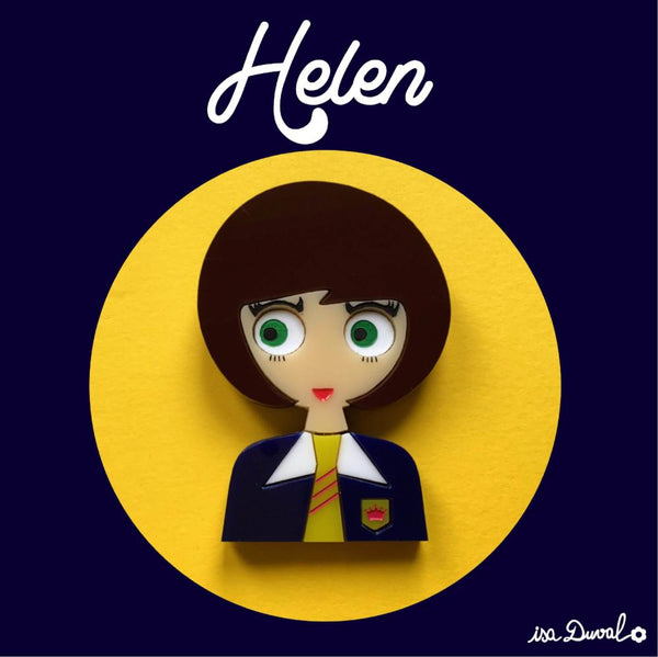 HELEN Acrylic Brooch, Back-to-School Limited & Numbered Edition - Isa Duval
