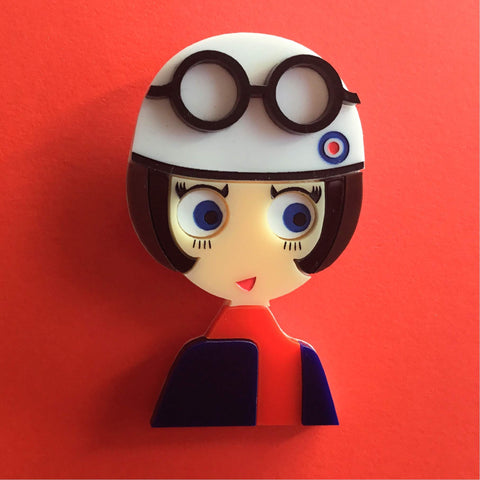 POPPY Acrylic Brooch, Limited Numbered Edition - Isa Duval