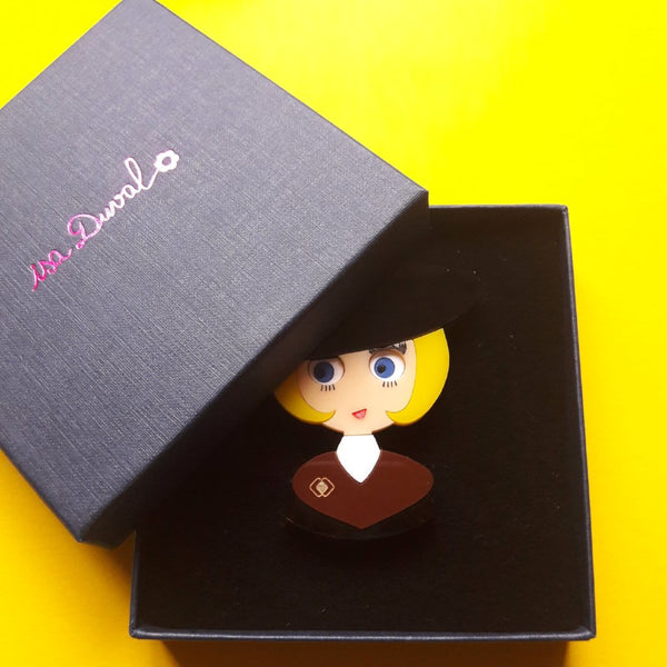 BONNIE Acrylic Brooch, Limited & Numbered Edition - Isa Duval