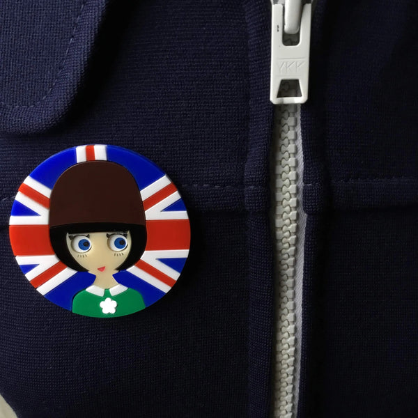 LIZZY Union Jack Acrylic Brooch - Isa Duval