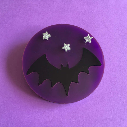 HALLOWEEN NIGHT Acrylic Brooch 🦇 🌚 ⭐️ - Isa Duval