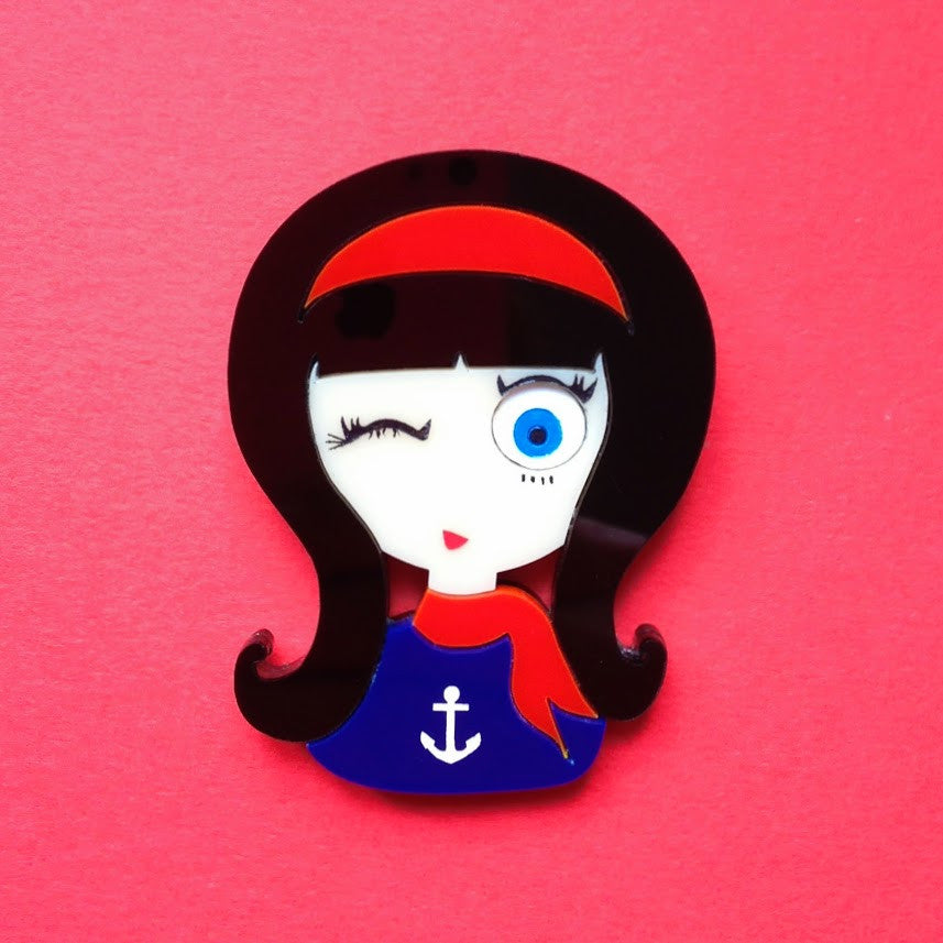 "Broche Acrylique ""BETTY"""