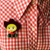 BOB Cowboy Acrylic Brooch, February Limited Numbered Edition - Isa Duval