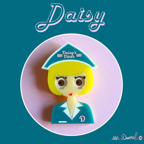 Daisy Acrylic Brooch, Limited & Numbered Edition - Isa Duval