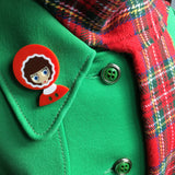 BECKY Acrylic Brooch, Xmas and frosts of winter ready!